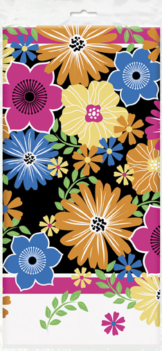 Luau Summer Bold Blooms Party Plastic Tablecover