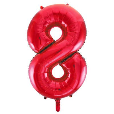 Number 8 Red Super Shape Number Foil Balloon
