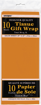 Orange Tissue Paper 10 Sheet Pack