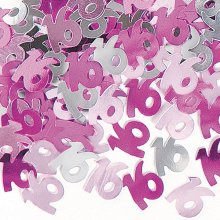 Pink Glitz 16th Birthday Party Confetti 14g