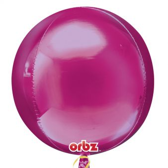 Pink ORBZ Helium Foil Balloon
