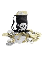 Pirate Coin Bag And Coins