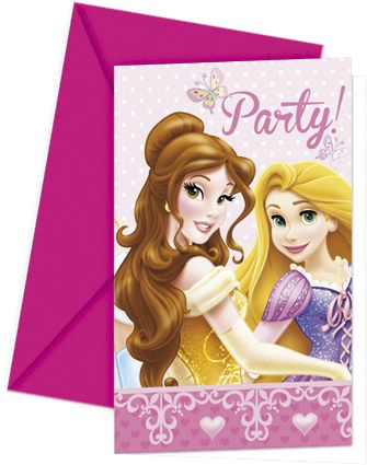 Princess Glamour Party Invites