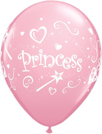 Princess Pink Balloons 6 Pack
