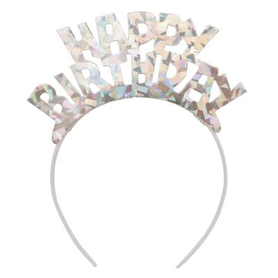 Prismatic 'Happy Birthday' Headband Tiara