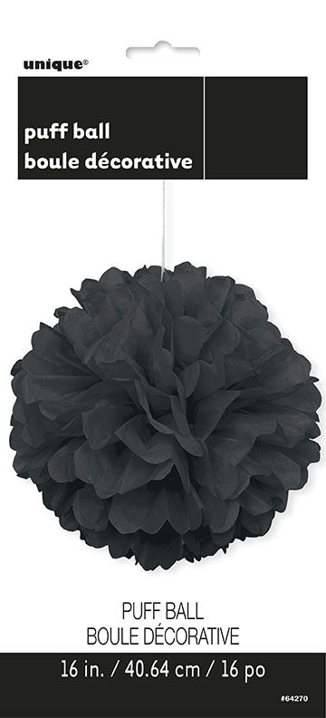 Puff Ball Decoration In Black