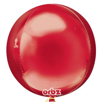 Red ORBZ Helium Foil Balloon