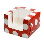 Red with White Dots Cupcake Box