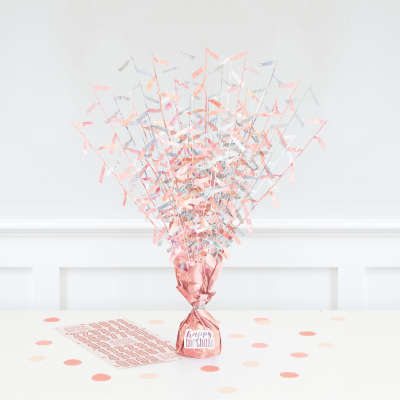 Rose Gold Glitz Balloon Weight Table Centrepiece