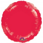 Round Red Foil Helium Balloon