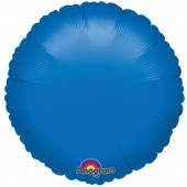 Round Royal Blue Foil Helium Balloon