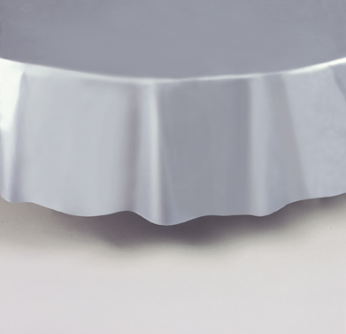 "Silver Round Tablecover 84""/ 213cm Diameter"