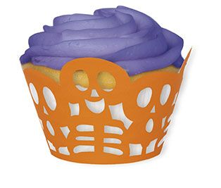 Skeleton Heads Cupcake Wrappers