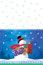 Snowman Gifts Party Plastic Tablecover