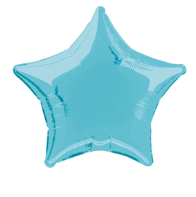 Star Shaped Baby Blue Foil Helium Balloon