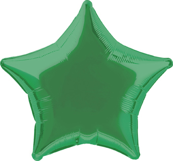 Star Shaped Green Foil Helium Balloon