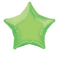 Star Shaped Lime Green Foil Helium Balloon