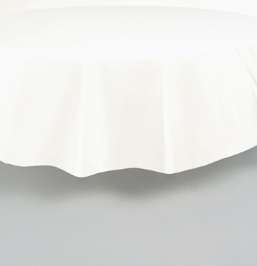"White Round Tablecover 84""/ 213cm Diameter"